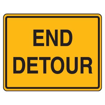 Road Construction Signs - End Detour