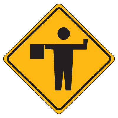 Flagman Signs, Road Construction Signs | Seton