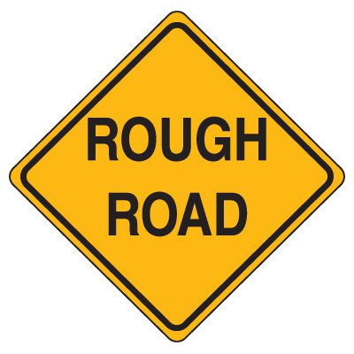 Road Construction Signs - Rough Road