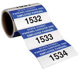 Custom Roll Form Parking Permits