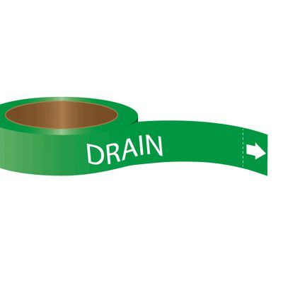 Roll Form Self-Adhesive Pipe Markers - Drain