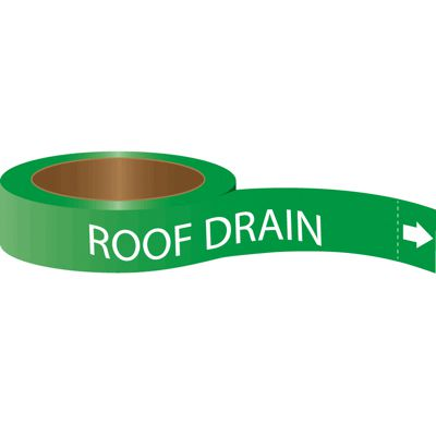 Roll Form Self-Adhesive Pipe Markers - Roof Drain