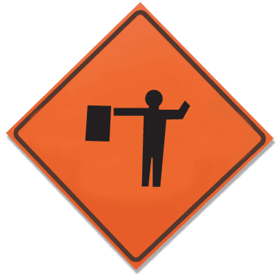 TrafFix Devices Roll Up Signs - Flagman 26036-EM-HF-FAS
