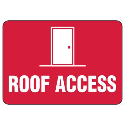 Roof Access Signs - Roof Access