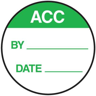 ACC Round Labels On A Roll