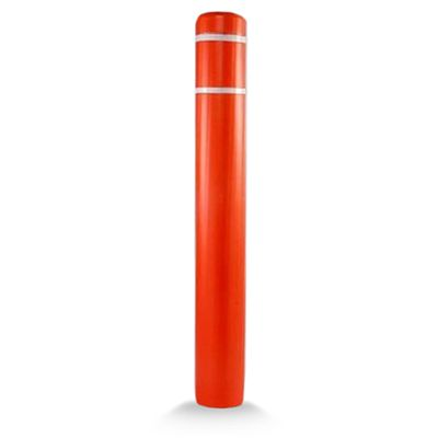 Post Guard CL1386H ASSY Orange Bollard Cover 7 x 60 White Tape
