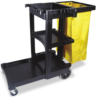 Rubbermaid® Rubbermaid® Multi-Shelf Cleaning Cart 617388BK