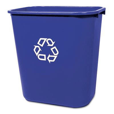 Rubbermaid® Commercial Deskside Recycling Container FG295673BLUE