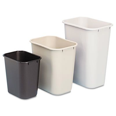 Rubbermaid® Commercial Soft Molded Plastic Wastebasket