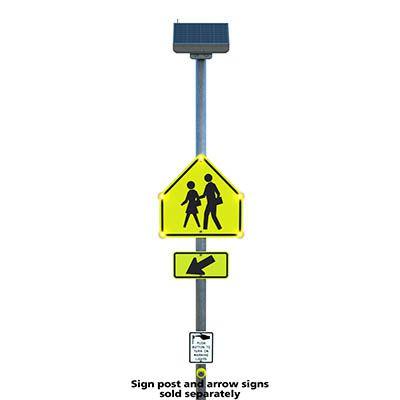 Push Button LED Crosswalk Signs
