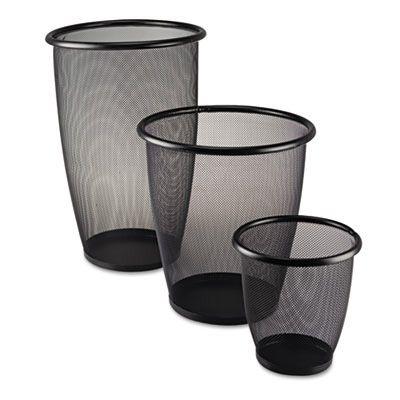Safco® Onyx® Round Mesh Wastebaskets SAF9717BL