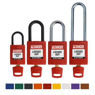 Brady ® SafeKey Nylon Lockout Padlocks