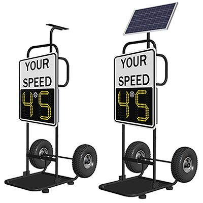 SafePace® 100 Radar Feedback Sign with Dolly