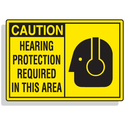 Safety Alert Signs - Caution - Hearing Protection Required
