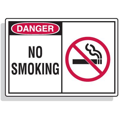 Safety Alert Signs - Danger - No Smoking