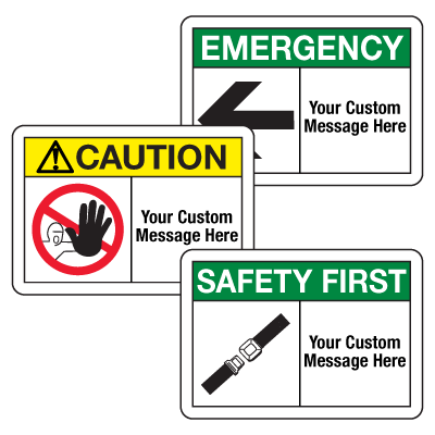 Custom Safety Alert Signs