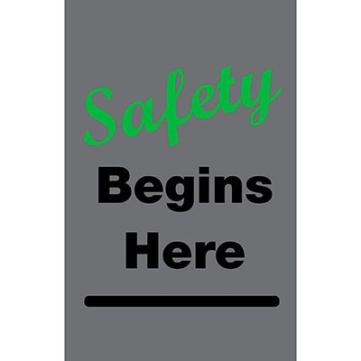 Safety Begins Here - Safety Message Mat