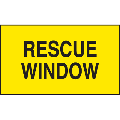 Rescue Window Safety Door And Window Decals