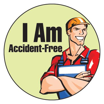 Safety Hard Hat Labels - Accident-Free