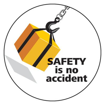 Safety Hard Hat Labels - Safety Is No Accident