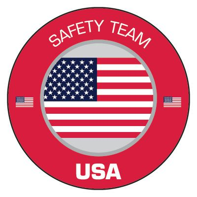 Safety Hard Hat Labels - Safety Team USA
