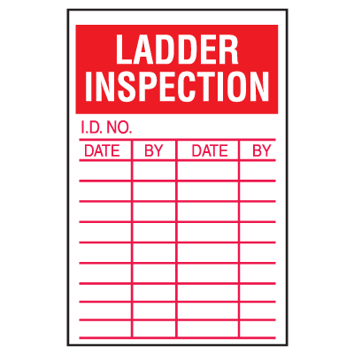 Ladder Safety Inspection Labels
