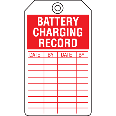 Battery Charging Record Tags
