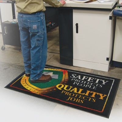 Safety Protects People, Quality Protects Jobs Message Mat