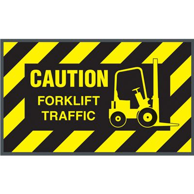 Caution Forklift Traffic Message Mat