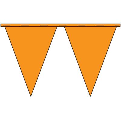 Orange Safety Pennants