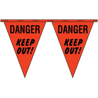 NATIONAL BANNER CO INC/ NABCO Danger Keep Out Safety Pennants CP41060