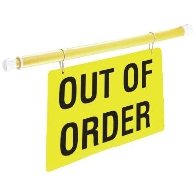 Safety Pole System Sign - Out of Order