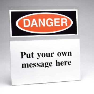 Custom Safety Sign Insert Holder - Danger
