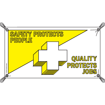 Safety Protects People, Quality Protects Jobs Banners