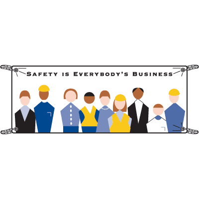 Safety Is Everyone's Business Safety Slogan Banners