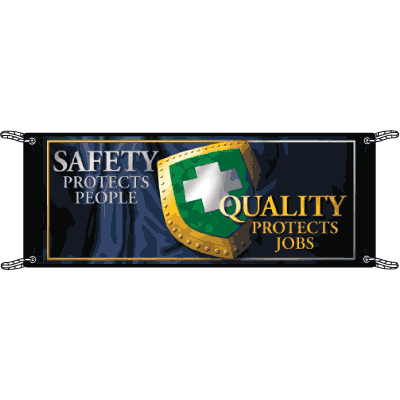 Safety Protects People Safety Slogan Banners