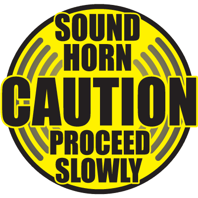 Caution - Sound Horn Floor Markers