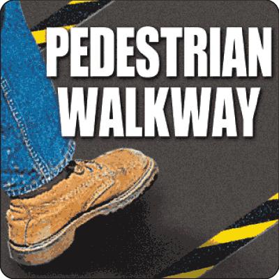 Pedestrian Walkway Floor Markers