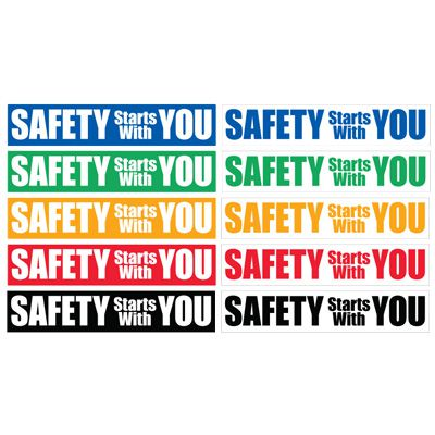 Safety Slogan Mirror Labels - Safety Starts With You
