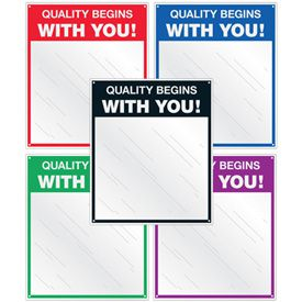 Safety Slogan Mirrors - Quality Begins With You