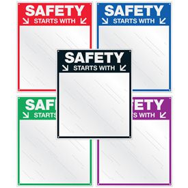 Safety Slogan Mirrors - Safety Starts With (You)