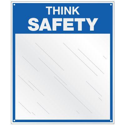 Safety Slogan Mirrors - Think Safety