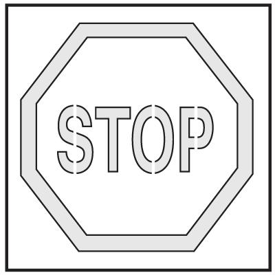Safety Stencils - Stop