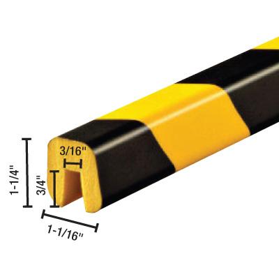 Square Edge Protector - 1-1/16H x 1-1/4W x 39-3/8L