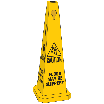 Safety Traffic Cones- Caution Floor May Be Slippery