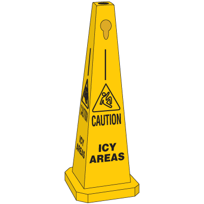 Safety Traffic Cones - Caution Icy Areas