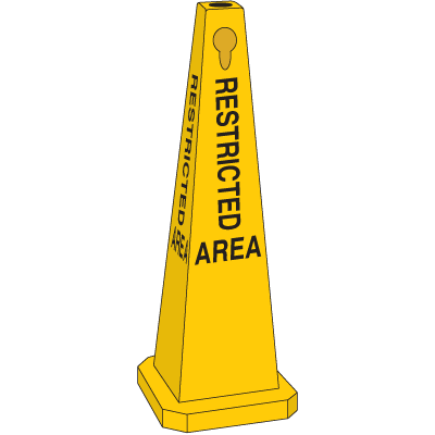 Safety Traffic Cones - Restricted Area