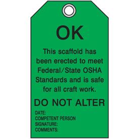 Scaffold Status Tags - Ok