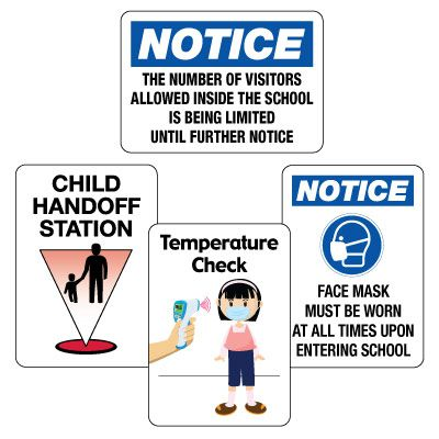 Social Distancing Signage Kit for Entryways  #2