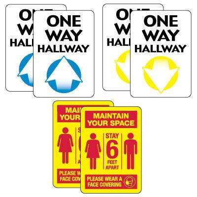 Social Distancing Signage Kit for Hallways #1